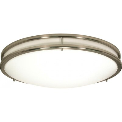 Sid 1-Light LED Brushed Nickel Flush Mount Size: 13