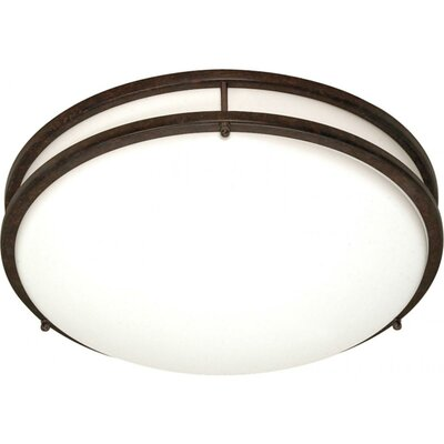 Sid Energy Star 3-Light Flush Mount Size: 3.5 H x 17 W