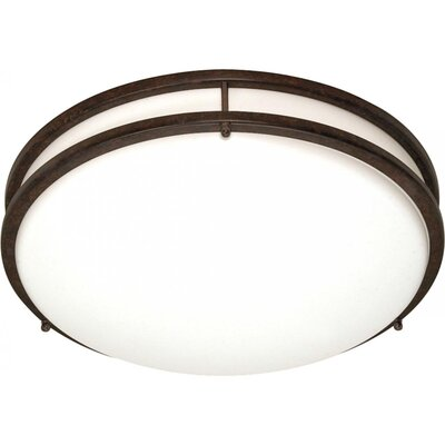Sid Energy Star 3-Light Flush Mount Size: 3.5 H x 24 W