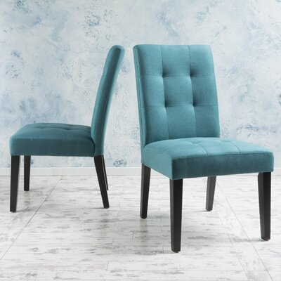 Trinity Place Side Chair Upholstery: Teal