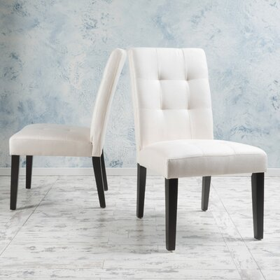 Brooksville Side Chair Upholstery: Beige