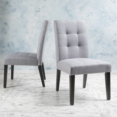 Trinity Place Side Chair Upholstery: Light Gray