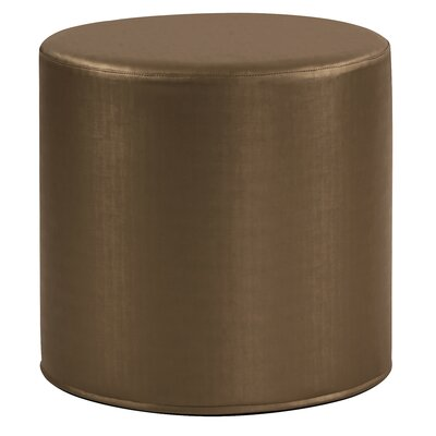 Contreras Cylinder Shimmer Ottoman Upholstery: Bronze