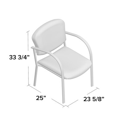Oleanna Guest Arm Chair Seat Finish: Ebony, Arms: With Arms, Frame Finish: Silver