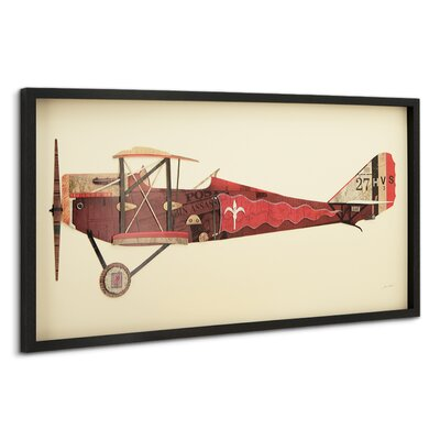 'Antique Biplane #2' by Alex Zeng Framed Graphic Art Print