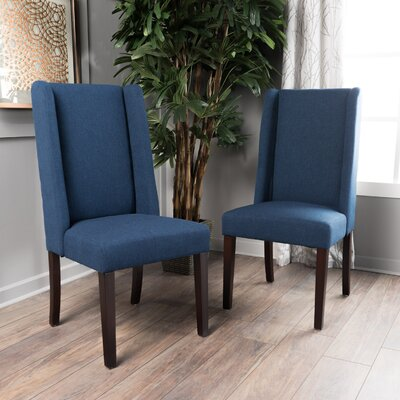 Harlow Side Chair Upholstery: Navy Blue