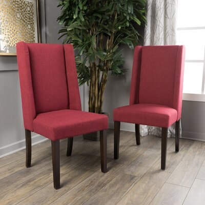Harlow Side Chair Upholstery: Deep Red