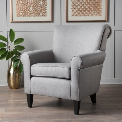 Temples Armchair Upholstery: Gray