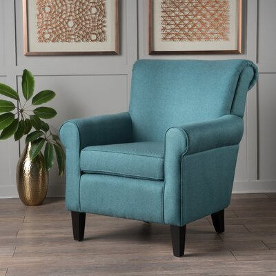 Temples Armchair Upholstery: Dark Teal