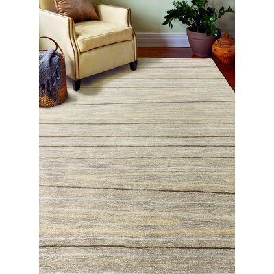 Kelson Hand Tufted Wool Taupe Area Rug Rug Size: 86 x 116