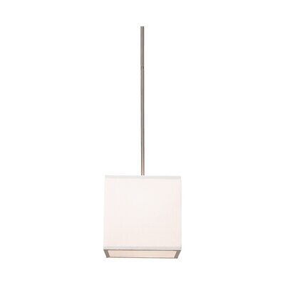 Stabile 2 Light Drum Pendant Shade Color: White