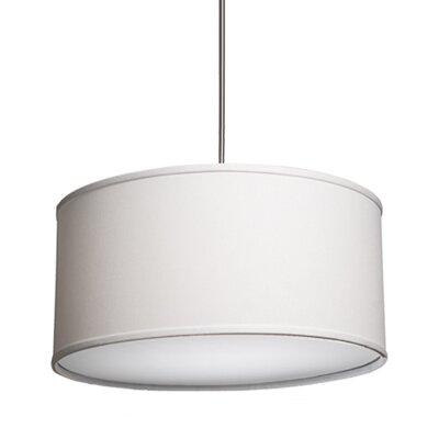 Stabile Mercer 3 Light Drum Pendant Shade Color: White