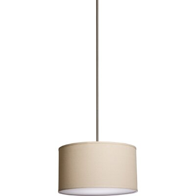 Stabile Mercer 3 Light Drum Pendant Shade Color: Oatmeal