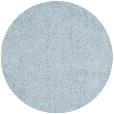 Winnett Hand-Tufted Light Blue Area Rug Rug Size: Round 5 x 5