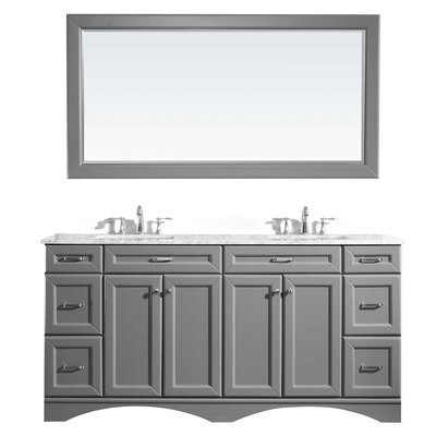 Jonina 72 Bathroom Vanity Set with Mirror