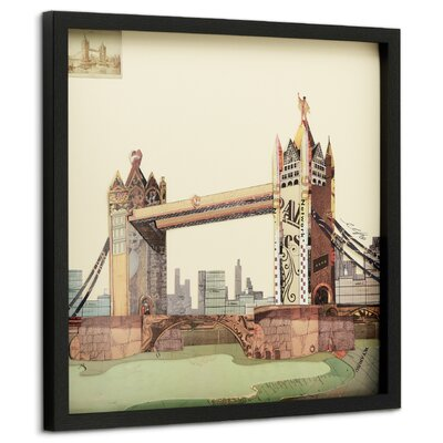 'London Bridge' Framed Graphic Art Print