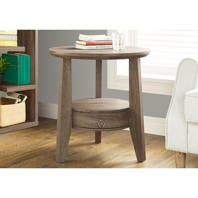 Sandara End Table With Storage Color: Dark Taupe