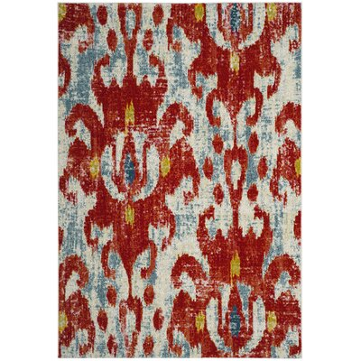 Ahart Red Indoor Area Rug Rug Size: Rectangle 67 x 9