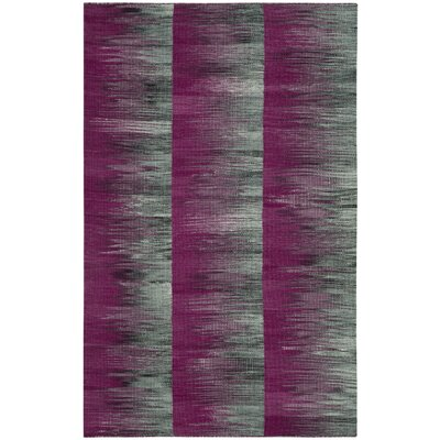 Amerina Hand-Woven Purple/Charcoal Area Rug Rug Size: Rectangle 4 x 6