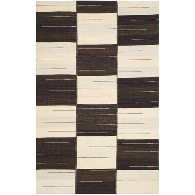 Amerina Hand-Woven Beige/Brown Area Rug Rug Size: Rectangle 4 x 6