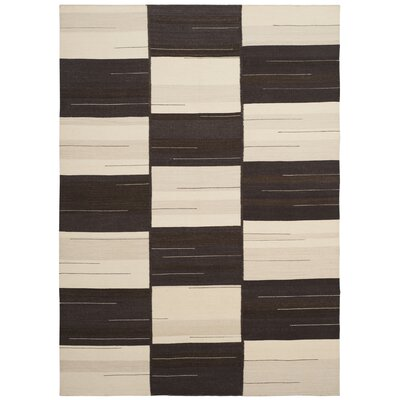 Amerina Hand-Woven Beige/Brown Area Rug Rug Size: Rectangle 5 x 8