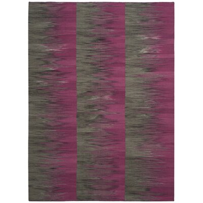 Amerina Hand-Woven Purple/Charcoal Area Rug Rug Size: Rectangle 5 x 8