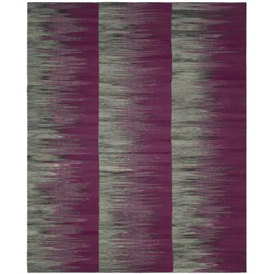 Amerina Hand-Woven Purple/Charcoal Area Rug Rug Size: Rectangle 8 x 10