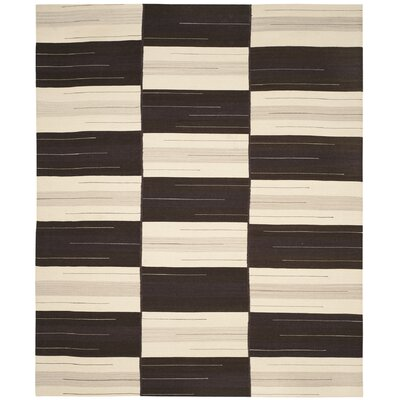 Amerina Hand-Woven Beige/Brown Area Rug Rug Size: Rectangle 8 x 10