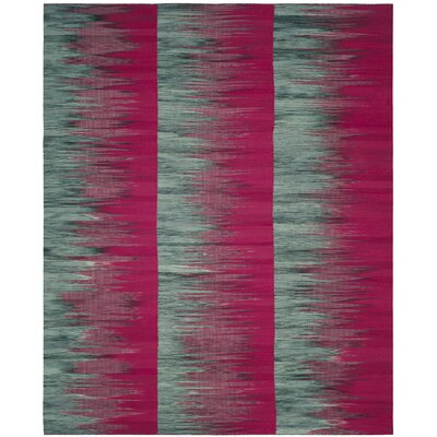 Amerina Hand-Woven Fuchsia/Charcoal Area Rug Rug Size: Rectangle 8 x 10