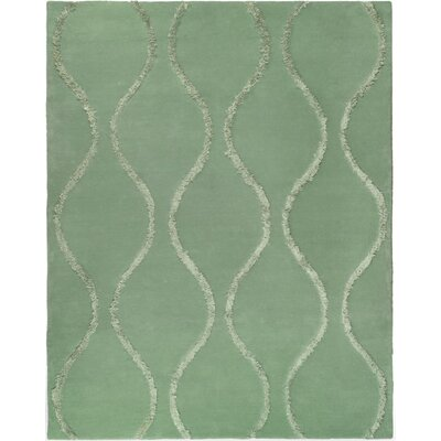 Woodburn Aqua / Green Contemporary Rug Rug Size: Rectangle 76 x 96