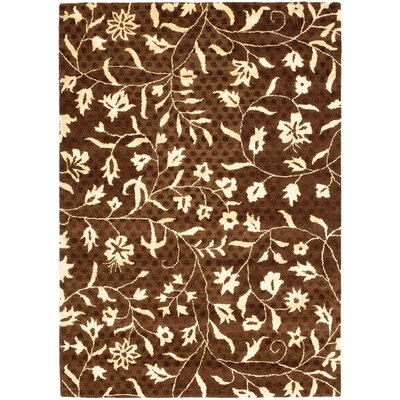 Woodburn Light Dark Brown / Ivory Contemporary Rug Rug Size: Rectangle 5 x 8