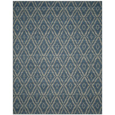 Amerina Hand-Woven Blue/Gray Area Rug Rug Size: Rectangle 8 x 10