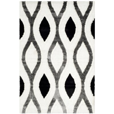 Callensburg Ivory/Gray Area Rug Rug Size: Rectangle 53 x 76