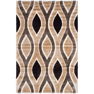 Callensburg Beige/Brown Area Rug Rug Size: Rectangle 53 x 76