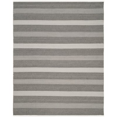 Amerina Hand-Woven Gray/Black Area Rug Rug Size: Rectangle 8 x 10