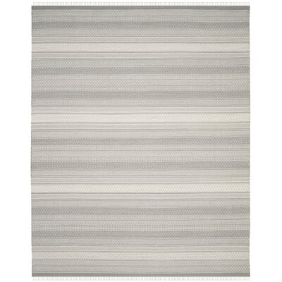 Amerina Hand-Knotted Gray Area Rug Rug Size: Rectangle 8 x 10