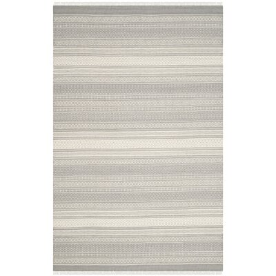 Amerina Hand-Knotted Gray Area Rug Rug Size: Rectangle 5 x 8
