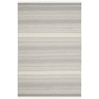 Amerina Hand-Knotted Gray Area Rug Rug Size: Rectangle 4 x 6