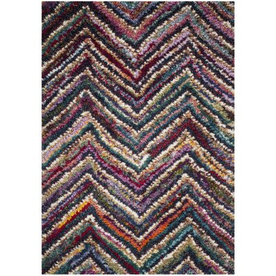 Gleno Red/Brown Area Rug Rug Size: Rectangle 51 x 76