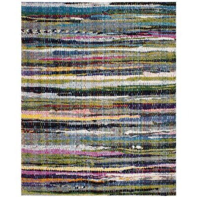 Gleno Green/Blue Area Rug Rug Size: Rectangle 8 x 10