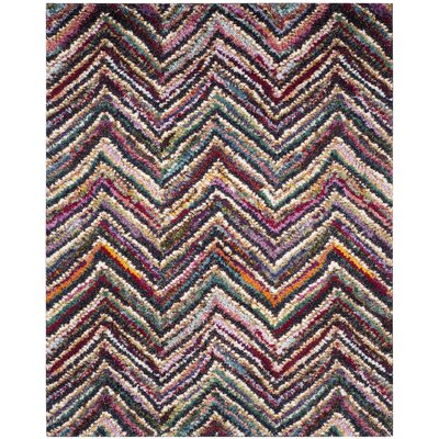 Gleno Red/Brown Area Rug Rug Size: Rectangle 8 x 10