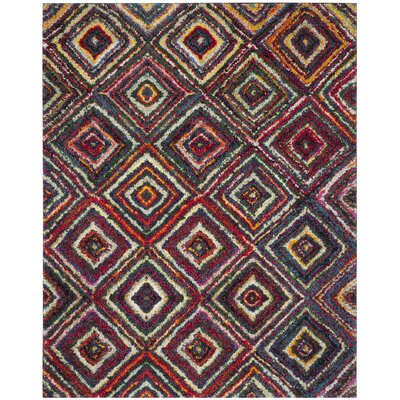 Gleno Red/Yellow Area Rug Rug Size: Rectangle 8 x 10