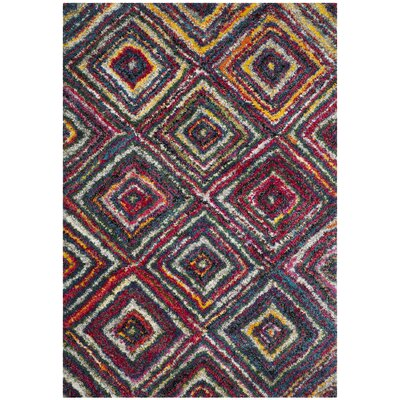 Gleno Red/Yellow Area Rug Rug Size: Rectangle 51 x 76