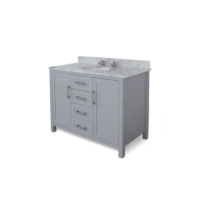 Hodgin 48 Single Bathroom Vanity Top Finish: Carrara White