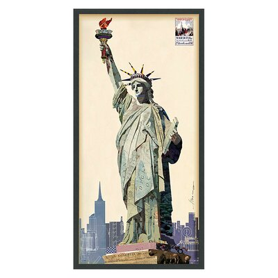 'Lady Liberty' by Alex Zeng Framed Graphic Art Print