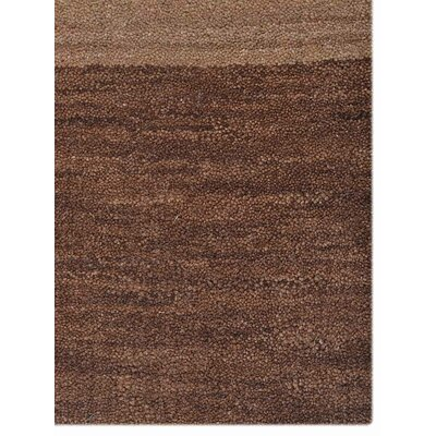 Ry Hand Knotted Wool Brown Area Rug Rug Size: 6 x 9