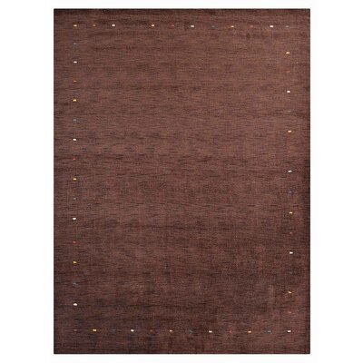 Ry Hand-Woven Wool Brown Area Rug Rug Size: Rectangle 5 x 8