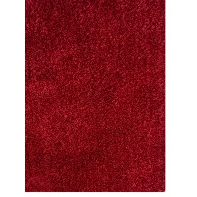 Ry Hand-Tufted Red Indoor/Outdoor Area Rug Rug Size: 6 x 9