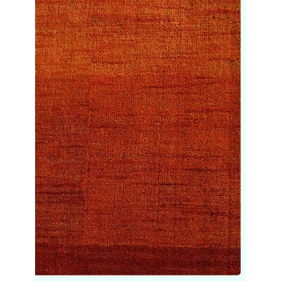 Ry Hand-Knotted Wool Rust Area Rug Rug Size: 5 x 8