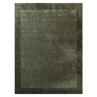Ry Hand-Knotted Wool Green Area Rug Rug Size: 6' x 9'